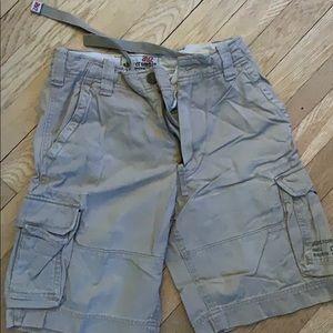 Khaki cargo Abercrombie sz10 shorts-good condition